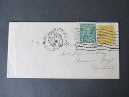 Canada 1934 Mischfrankatur Zweier Ausgaben! Breite Marken / Verzähnt?? Interessanter Briefumschlag - Cartas