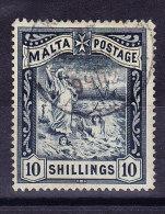 Malta - 1899 - Mi.# 14 - 10 Shillings Gestempelt - Malta