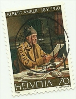 1981 - Svizzera 1122 Nascita Di A. Anker C3317^ - Persönlichkeiten