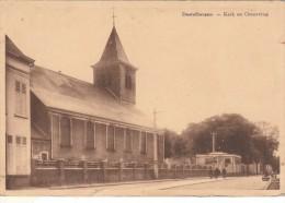 Cpa/pk 1942 Destelbergen Kerk En Omgeving Satijn De Maesschalck - Destelbergen