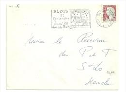CHEVAL + HISTOIRE = 41 BLOIS 1962 = FLAMME Non Codée = SECAP Illustrée  '5e Centenaire Louis XII Anne De Bretagne' - Horses