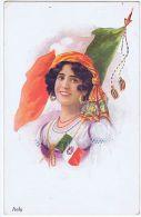 VIVIAN MANSELL & CO. POSTCARD 1920s - ITALIAN WOMAN & FLAG - N. 1021 - Unclassified