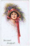 VIVIAN MANSELL & CO. POSTCARD 1910s -WOMAN & FLOWERS - N.1085 - Unclassified