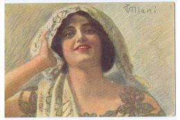VILLANI - ART DECO POSTCARD 1920s - WOMAN - N. 335-6 - Unclassified