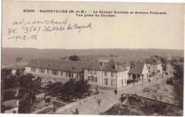 BADONVILLER  / LE GROUPE SCOLAIRE ET AVENUE POINCARE - VUE PRISE DU CLOCHER (DOS SCANNE) - France