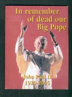 Essai Commemoratif Mort Du Pape Jean Paul 2 In Remember Of Dead Our Big Pope 8 Pièces Scellées Vatican Coffret  2005 - Vatican