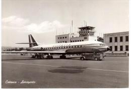 CATANIA - AEROPORTO - ALITALIA 1966 - Viaggiata  (CO109) - Catania