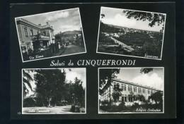 T1588 CARTOLINA REGGIO CALABRIA SALUTI DA CINQUEFRONDI VEDUTE VEDUTINE FG. V. - Reggio Calabria