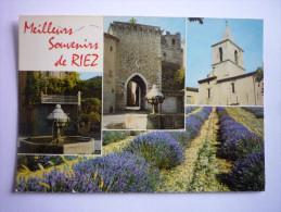 Riez (04) Meilleurs Souvenirs De Riez - Lavande - Eglise -fontaine - Chateau (2scann) - Other Municipalities