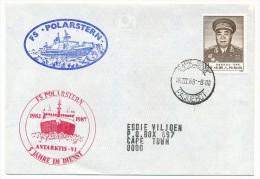 Enveloppe Affr TP Chinois Obl CAPE TOWN Paquebot + FS Polarstern + Antarktis 1982-1987 - Timbres