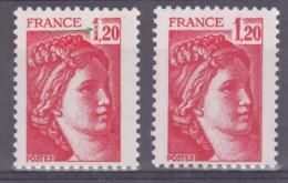 FRANCE  VARIETE   N° YVERT  / N°  MAURY 1974  TYPE SABINE DE GANDON NEUFS LUXE - Varieteiten: 1970-79 Postfris