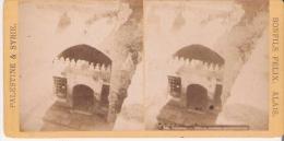 BONFILS FELIX ALAIS 245 PALESTINE ET SYRIE HEBRON TOMBEAUX DES PATRIARCHES PHOTO STEREO ANCIENNE - Photos Stéréoscopiques