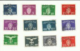 Norvège Service N°31, 33, 35 à 40, 49, 53, 55 Côte 3.55 Euros - Service