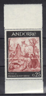 ANDORRE N° 184 ** Pli Accordéon Signé  Battesti (trés Rare Sur Les TP Modernes) - Andorra Francesa