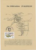 Feuillet Illustré. 50° Ann. Libérat. D´Alençon. Cachet Commémo Sur Timbres  2888 - Seconda Guerra Mondiale