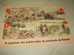 Poster Kerch Ukrania Russia German Propaganda WWII - Documents