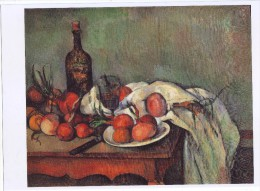 Painting By Paul Cezanne: Still Life With Onions, On Glossy Paper ,peinture - Prints