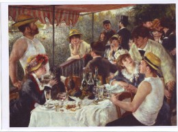 Painting By Auguste Renoir: Luncheon Boating Party, On Glossy Paper ,peinture - Prints