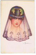 BUSI - ART DECO POSTCARD - 1920s - WOMAN & VEIL - N. 114-1 - Busi, Adolfo