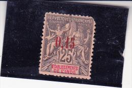 INDE- TIMBRE N° 22 NEUF SANS GOMME  ET DENT MANQUANTE ANGLE SUP DROIT -COTE: 125 € - India (1892-1954)