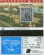 "Telefonkarte Dänemark -  Rare Stamps  "" Hamburg Nr. 1 "" - TP70 - 08/94 - SN 4351 - Aufl. 2000 - Timbres & Monnaies"