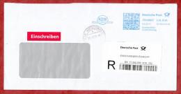 Einschreiben Einwurf Reco, FRANKIT Neopost 1D100.., KDW Post-Service, 215 C, R-Label + OT Kleve 2011 (55024) - Storia Postale