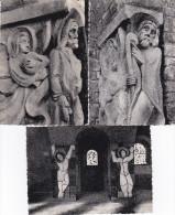 SANKT-VITH-LOT-3 CARTES-EGLISE-RELIEF DE L'ENTREE+PARTIE DU CHEMIN DE LA CROIX-BUCHHANDLUNG FELTEN-VOYEZ 2 SCANS - Saint-Vith - Sankt Vith