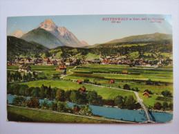 """(4/6/81) AK """"Mittenwald A. Isar"""" Mit Wetterstein, Um 1920 - Mittenwald"""