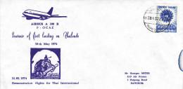 Bangkok 1974 - Primo Volo  - 1er Vol Inaugural Flight Erstflug - Airbus - Thai International - Thaïlande