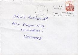 Norway Deluxe MANDAL 1981 Cover Brief To ODENSE Denmark Dom In Stavanger Stamp - Briefe U. Dokumente