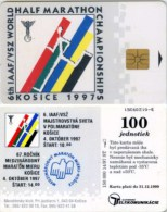 Telefonkarte Slowakei - Sport - Marathon - Kosice 1997 - Aufl. 150000 - 14/97 - Slowakei