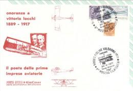 1977 FIGLINE VALDARNO - VITTORIO LOCCHI POETA IMPRESE AVIATORIE - 1971-80: Poststempel