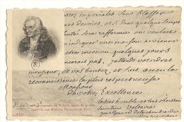 Cp, Histoire, Lettre Autographe De Voltaire - Histoire