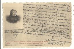 Cp, Histoire, Lettre Autographe De Catherie De Médicis - History
