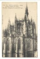 Cp, 50, Le Mont Saint-Michel, Abbaye, Abside De L'Eglise, Voyagée 1924 ? - Le Mont Saint Michel
