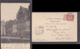 Belgium: Malines Maison Du Saumon, Used 1902 MALMINES STATION To  WYNBERG S. Africa, Sq.c.d.s. - Mechelen