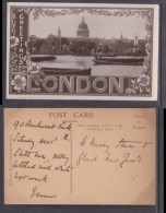 England, London, St Pauls Greetings From London  Photo, Written On, Not Posted - St. Paul's Cathedral