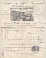 Facture Lettre 1892 LANGRAND Rue Maubeuge Paris - Gilet - Textile & Vestimentaire