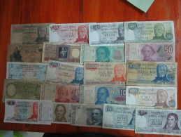 21 BILLETES DIFERENTES REPUBLICA ARGENTINA SOLD AS IS - Argentinië