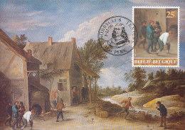 D17205 CARTE MAXIMUM CARD TRIPLE 1990 BELGIUM - BY TENIERS - JEU DE BOULES CP ORIGINAL - Bowls