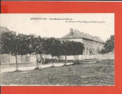 Cpa - Omerville (95) - La Mairie Et Les écoles - Altri Comuni