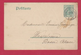 ALLEMAGNE  //POSTKARTE  //  POUR WASSELONNE  // 29/8/1910 - Ganzsachen