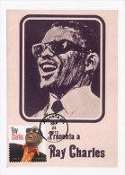 D17229 CARTE MAXIMUM CARD 2013 USA - RAY CHARLES CP PHOTOCARD - Singers