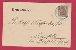 ALLEMAGNE  //DRUCKSACHE DE STOTZHEIM  //  POUR ROSSFELD  //  13/3/1909 - Ganzsachen