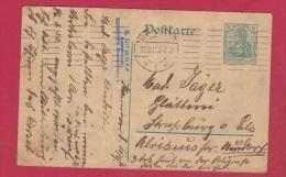 ALLEMAGNE  // POSTKARTE DE HANNOVER    //  POUR STRASBOURG  //  12/9/1911 - Ganzsachen