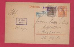 ALLEMAGNE  // POSTKARTE DE WINGEN  //  POUR RIXHEIM  //  18/10/1918 - Germany