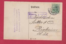 ALLEMAGNE  // POSTKARTE DE MUHLHAUSEN  //  POUR RIXHEIM  //  20/3/1916 - Ganzsachen