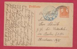 ALLEMAGNE  // POSTKARTE DE MOMMENHEIM  //  POUR BERLIN  //  8/7/1918 - Ganzsachen