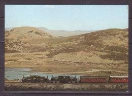 Ffestiniog Railway , Merddin Emrys And Earl Of Merioneth Passes Llyn Ystradau - Eisenbahnen