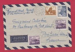 HONGRIE//  LETTRE DE BUDAPEST   //  POUR POITIERS //  4/4/1958 - Marcophilie